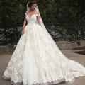 vestido de noiva Elegant A-line Lace Bridal Wedding Gown Ruffles Sexy Sweetheart Cap Sleeve Wedding Dresses Plus Size