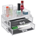 NEW Clear Cosmetic Drawers Makeup Jewelry Storage Display Organizer Box Boxes Make up Brush Eyeshadow Nail Polish Case Container