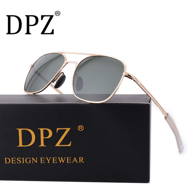 c1cbbd1db7 2018 NEW DPZ Brand men women driving lens sunglasses Mirror Fashion G15 AO  Polarized sun glasses uv400
