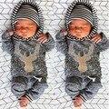 2pcs Baby Sets Cotton Autumn Baby Clothing Set Girl Outfit Elk Newborn Boys Clothes Set Babes Toddler Long Shirt Pants
