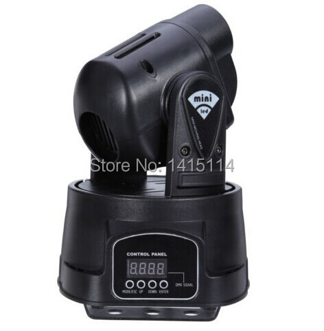 15W LED Mini  Moving Head DJ Gobo  Light DMX512 13 Channel Disco Club Party/sound Active With Free Shipping