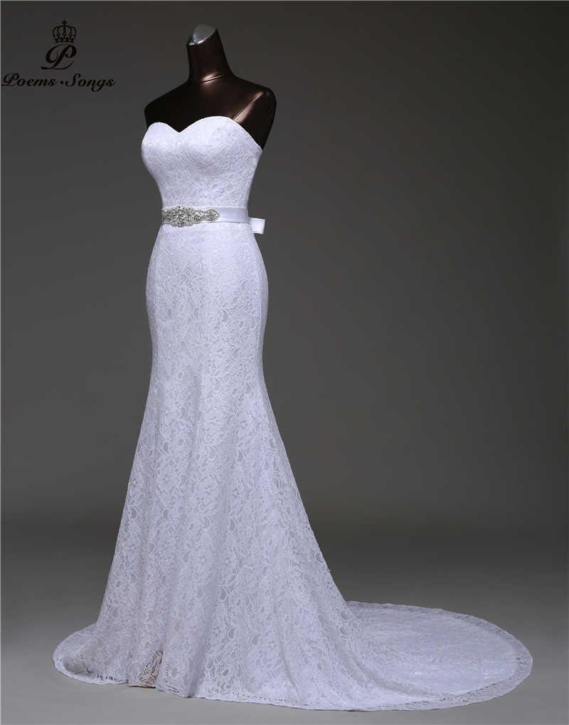 2018 Кристальный пояс, бандаж, сексуальное свадебное платье русалки, vestidos de noiva robe de mariage, свадебное платье, бесплатная доставка