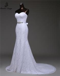 Image 2 - เข็มขัดคริสตัลเซ็กซี่ชุดเดรสเมอร์เมด 2020 vestidos de noiva Robe de mariage เจ้าสาวชุดจัดส่งฟรี