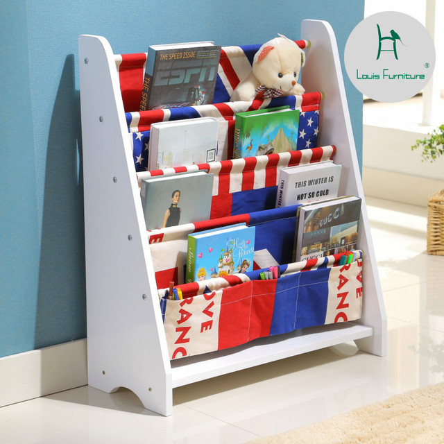 Louis Fashion Childrens Bookcases Solid Bookshelf Baby Reading