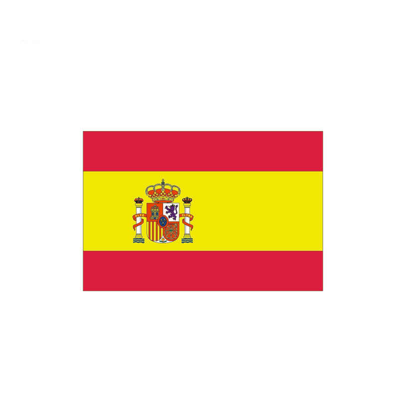 YJZT 11.9CM*7.9CM Car Accessories International SPAIN Flag Funny Car Sticker Decal 6-0464
