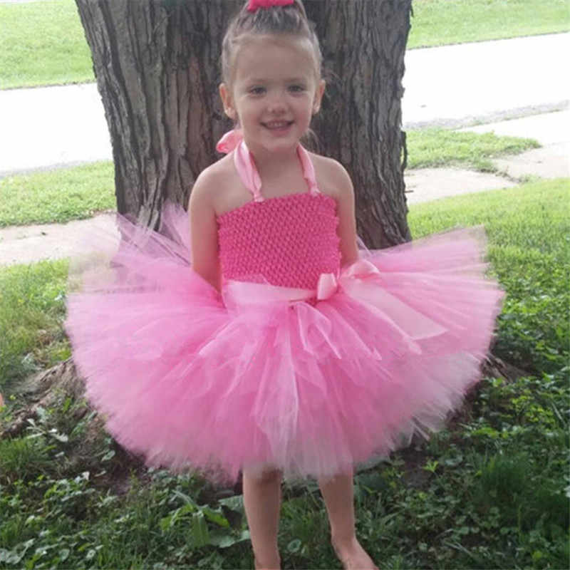 a4b977cb129 ... Colorful Flower Girl Tutu Dress Cute Tulle Princess Ball Gown For Girls  Rainbow Fairy Dress Kids ...