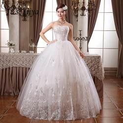 2017 индивидуальный заказ настоящая фотография Большие размеры Блестки без бретелек Кружева Дешевые Свадебные платья Белый платья невесты