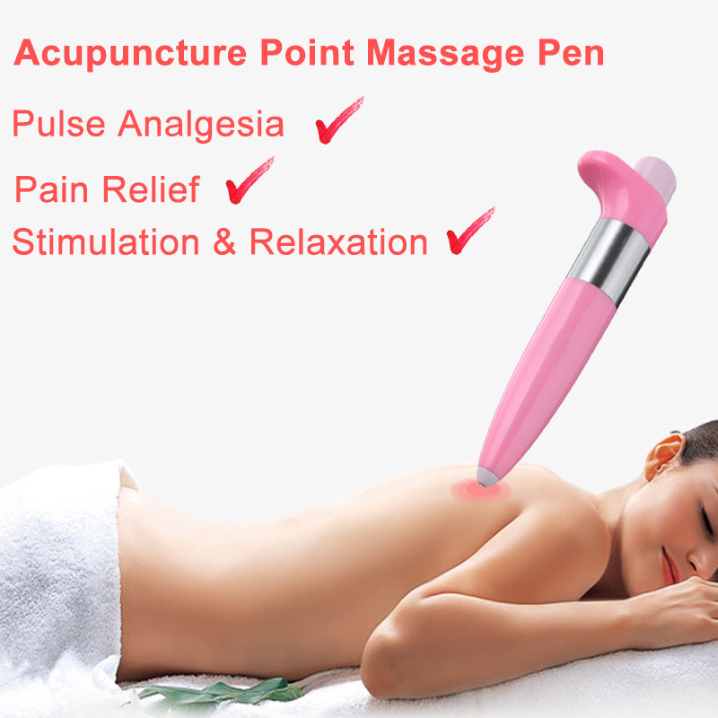 Electric Pulse Analgesia Pen Handhled Pain Relief Acupuncture Point Massager Pen Meridian Energy Therapy Portable Health Care health care meridian acupuncture pen magnet therapy instrument massage meridian energy pen massager 5 massage head energy pain
