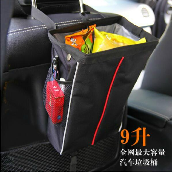 Useful Folding car trash bag hanging back child storage 24*12*32cm Free shipping