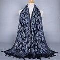 Wholesale Women printe cashew floral tassels INDIA cotton fashion muffler viscose shawls muslim HIJAB scarves/scarf 10pcs/lot