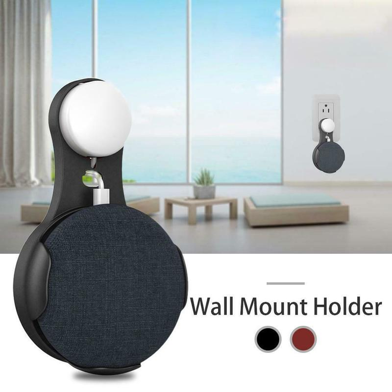 Mini Voice Assistants Wall Mount Holder Hanger Stand Grip Speaker Stand For Google Home Smart Wall Outlet Mount Holder Hanger