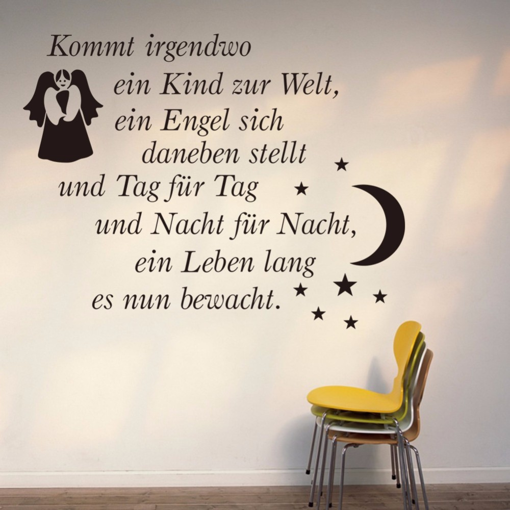 2015 Diy Baby Nursery Wall Stickers Quotes Fairy Angel Art Home