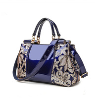 New Style2018 Woman Handbags Bags Patent Leather Embroidered Ladies Bags Practical High Quality Female Fashion Bags