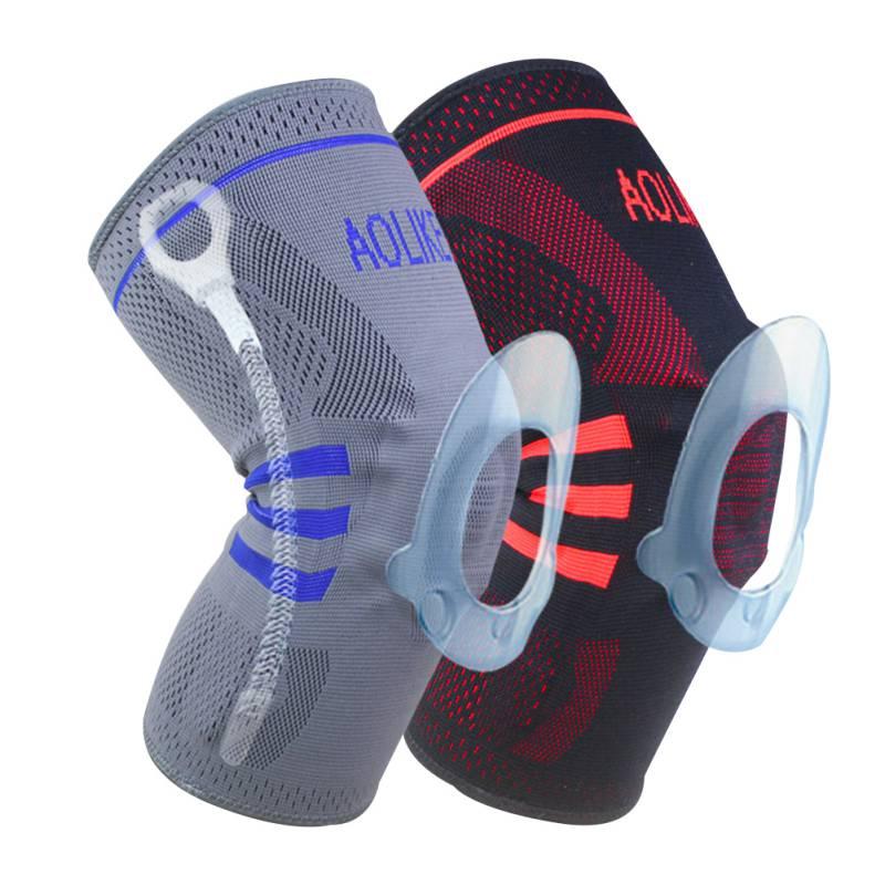 Prix pour AOLIKES Volley-Ball Genou Curseurs Amortissement Genouillères Basket-Ball Genouillères Soutenir Brace Wrap Protector Vélo