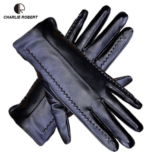 CR Women Touch Screen Gloves Pu Gloves Winter Gloves Soft Smartphone Wrist Glove