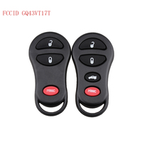 LARATH 3 4 Button 315Mhz FCCID GQ43VT17T Replacement Entry Remote Car Key Fob For Jeep Dodge