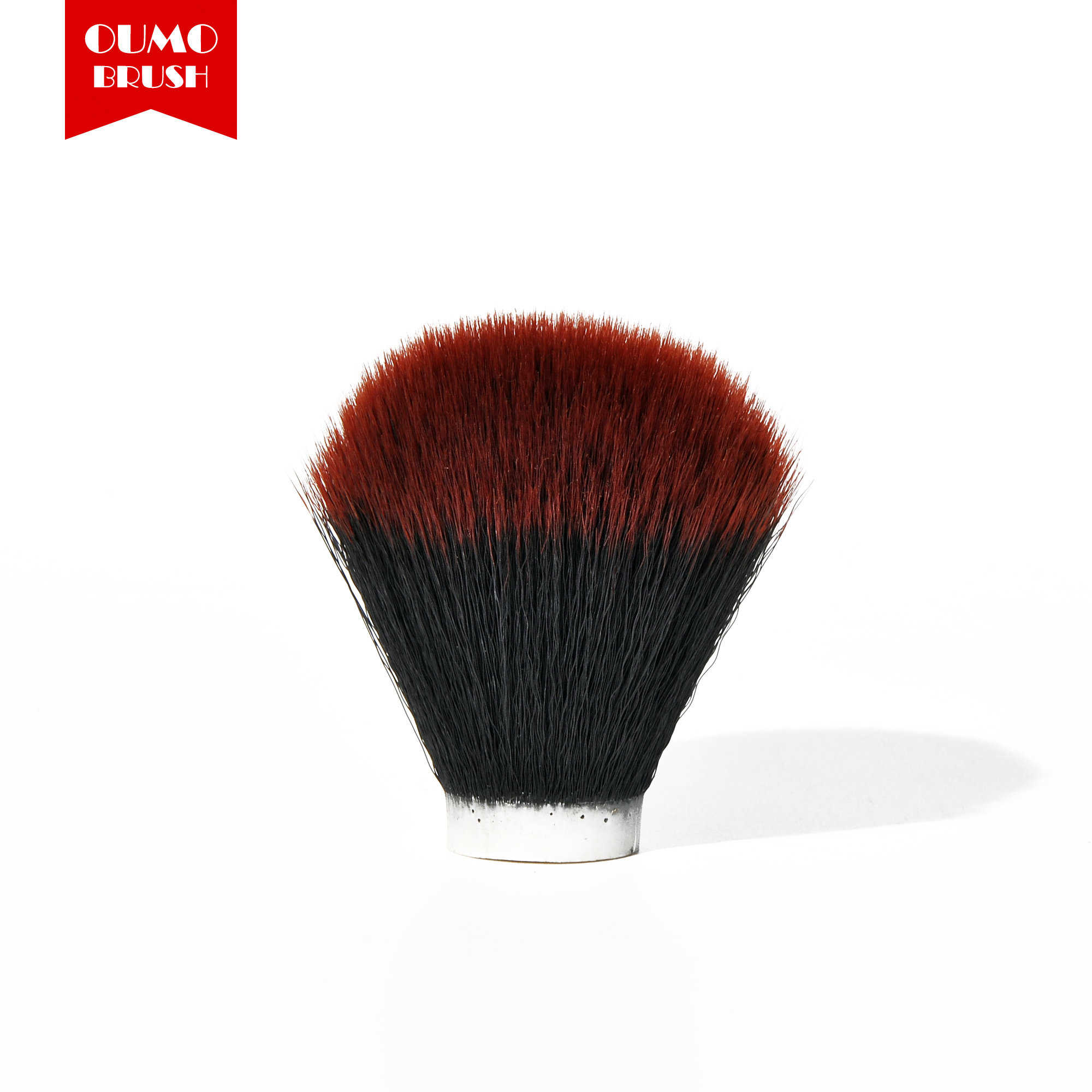 OUMO BRUSH-Tuexdo Red Tip Synthetic Hair Knots Shaving Brush Knots