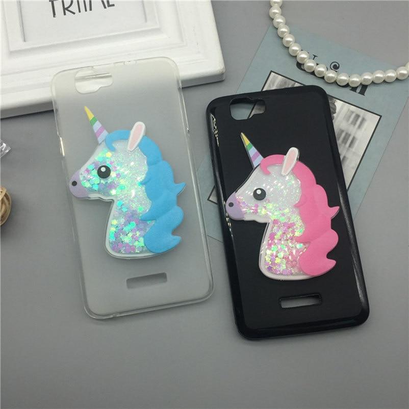 3D Единорог зыбучие пески жидкость Мягкий силиконовый чехол для Wiko Радуга Варенье 3G чехол телефона Мультфильм алмаз принципиально Coque Мода