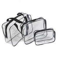3Pcs Set PVC Travel Cosmetic Bag Transparent Beauty Bag Waterproof Handbags Multi Function Wash Toiletry Bags