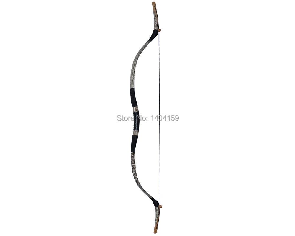 1 piece archery sports products 40lbs wooden recurve bow with snakeskin suitable for hunting and shooting 1 piece hotsale black snakeskin wooden recurve bow 45lbs archery hunting bow