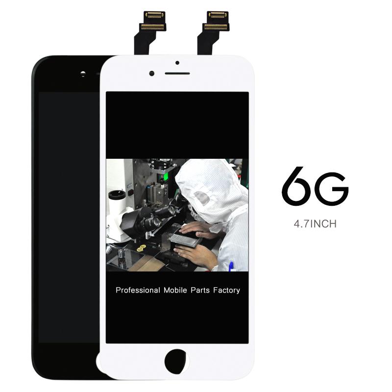 Prix pour 10 pcs/lot highscreen alibaba chine 4.7 pour iphone 6 lcd écran d'affichage avec cadre digitizer assemblée remplacement