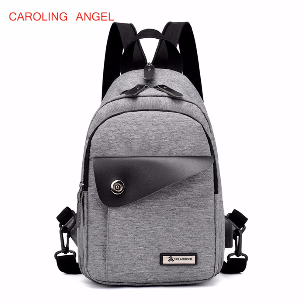 New Casual Men's Backpacks Fashion Usb Rechargeable Men's Travel Bags Unisex Oxford Laptop Backpack For Teenager School Bags