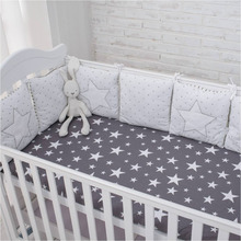 New Arrival High Quality Flexible Combination Star Bed Bumper Comfortable Protect the Baby Easy to Use Baby Bumpers In The Crib(China)