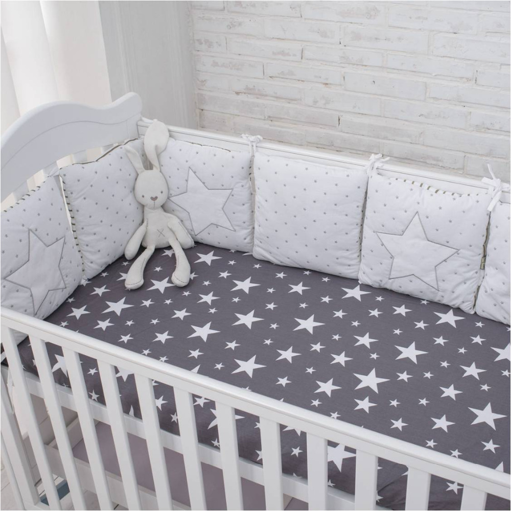 New Arrival High Quality Flexible Combination Star Bed Bumper Comfortable Protect the Baby Easy to Use Baby Bumpers In The Crib ...
