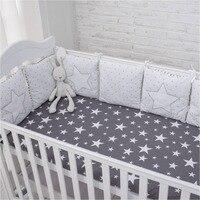 Nouvelle Arrivée Haute Qualité Flexible Combinaison Étoiles Lit Pare-chocs Confortable protéger le Bébé Facile à Utiliser Bébé Pare-chocs Dans Le lit