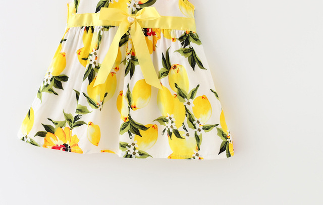 Sleeveless Lemon Baby Girl Dress