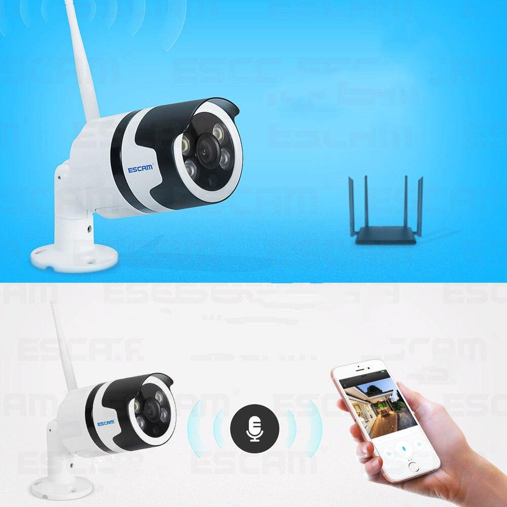 ESCAM QF508 HD 1080P WiFi APP Night Vision Two-way Audio IP Camera Waterproof Outdoor Security Camera Infrared Remote Control escam hd 720p mega pixels ip camera app remote control wifi camera