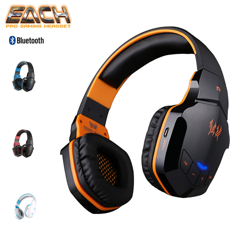 KOTION EACH Earphones Wireless Bluetooth Headset Sport Stereo Headphone For Phone Wireless Gaming Headset Bass HIFI Microphone цена