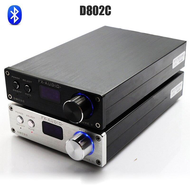 FX Audio D802C Bluetooth Pure Digital font b Amplifier b font USB AUX Optical Coaxial Mini