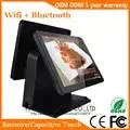 15 pollici Capacitivo Display Touch Sistema POS Tutto in un Dual Touch Screen del Monitor del PC
