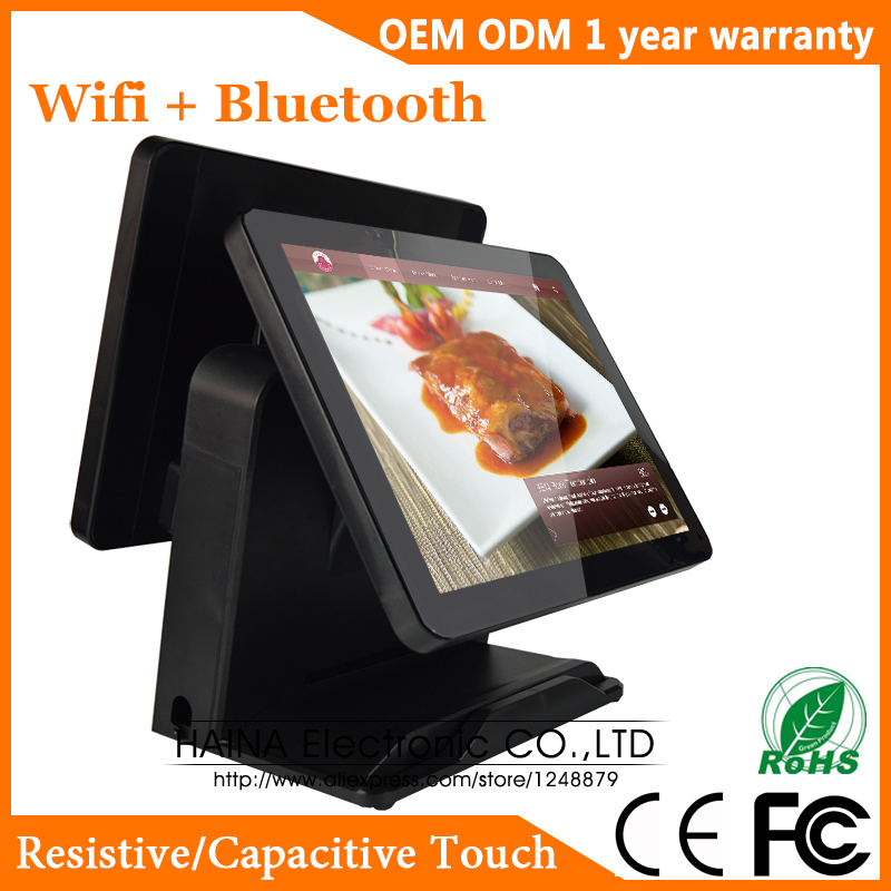 Haina Touch 15 inch Touch Screen All in one POS System Supermarket, POS System Dual Screen-in LCD Monitors from Computer & Office