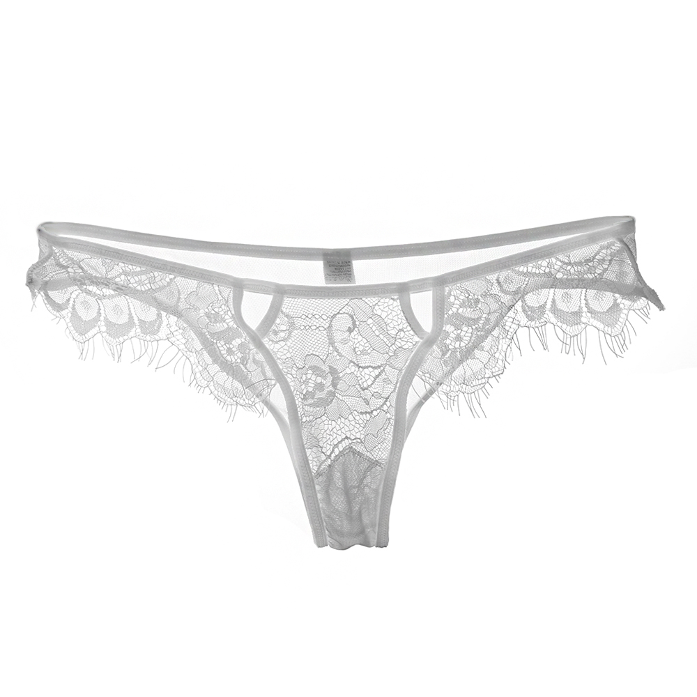 ee1f926f5 1PC Hot Sale Sexy Fashion Women s Lace Floral Black White G-string Thongs  Hollow V-string Panties Knickers Lingerie Underwear