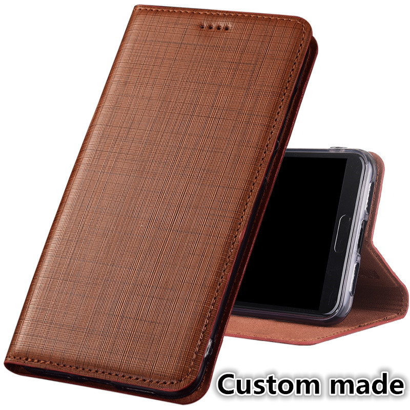 ZD16 Genuine leather flip case with card holder for font b OnePlus b font font b