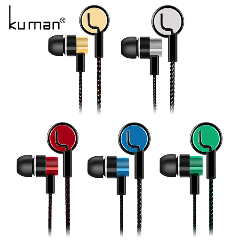 Kuman Sports Headphone Ear Hook Headset Bass In Ear Earphone Earbuds With Microphone For Xiaomi Mp3 Phone PC Gaming YL-HW23