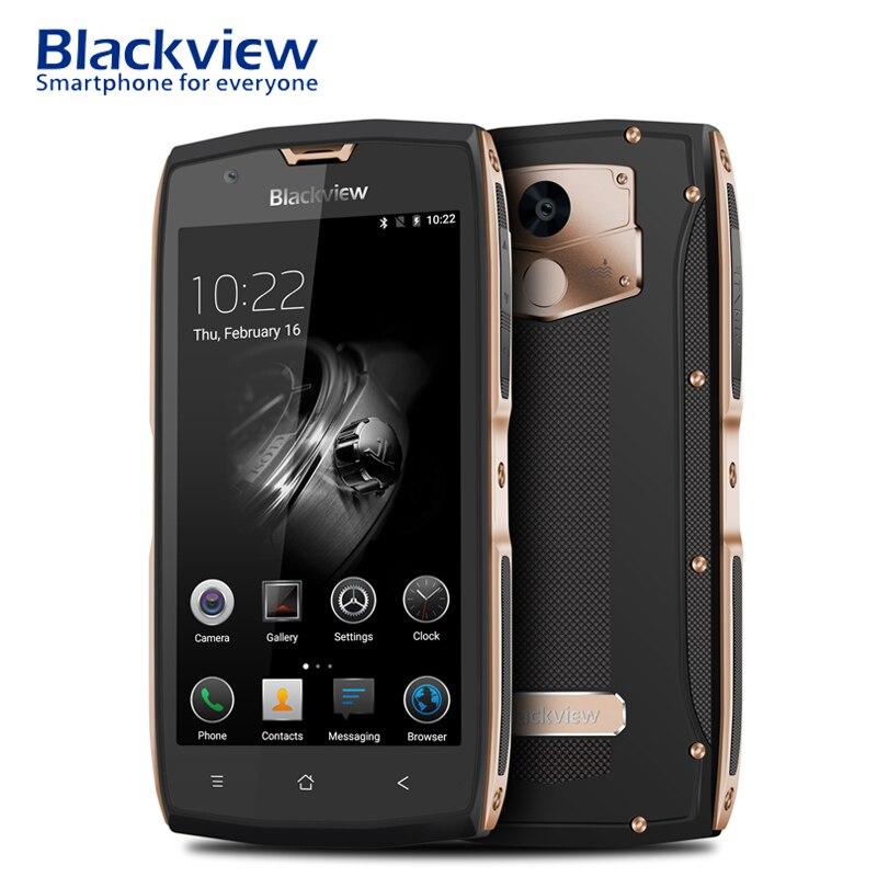 Blackview BV7000 5 pouces Smartphone tactile celulaire IP68 étanche NFC 1920x1080 2 GB RAM 16 GB ROM empreinte digitale Android 7.0 4G téléphone