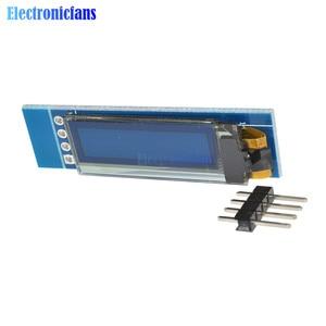 "Image 4 - 10 adet 0.91 inç 128x32 IIC I2C mavi OLED lcd ekran DIY modülü 0.91 ""SSD1306 sürücü IC modülü arduino PIC DC 3.3V 5V"