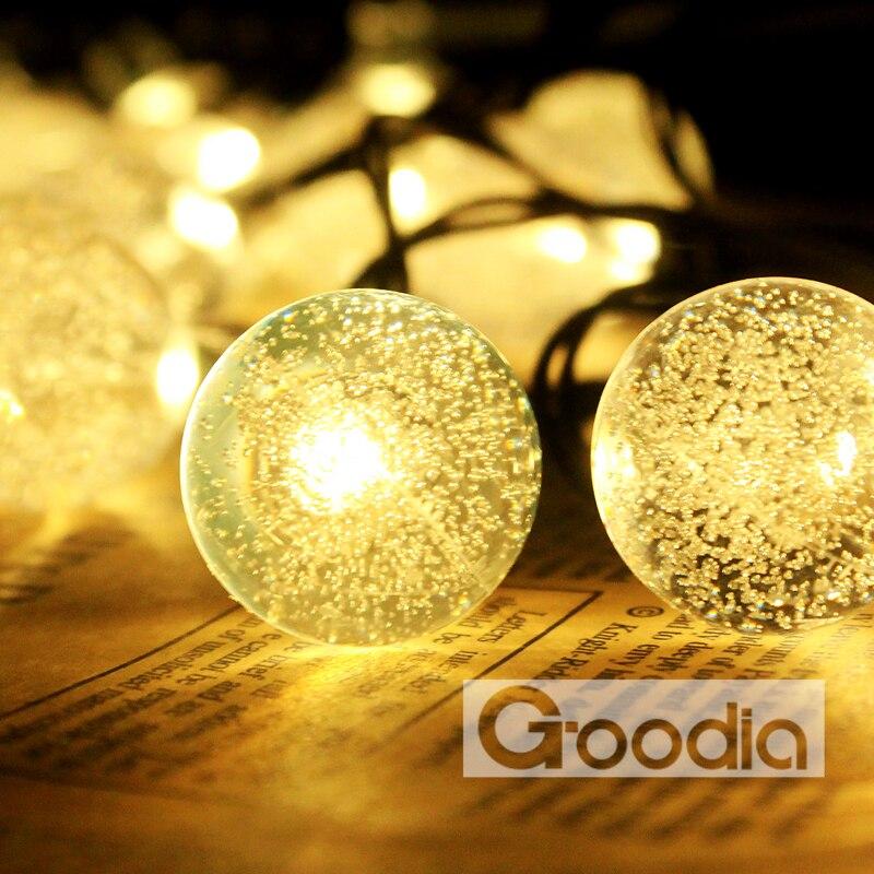 Batteri Julelys 90,5 tommer 20 LED Lysstråle Krystallkule Fairy - Ferie belysning - Bilde 3