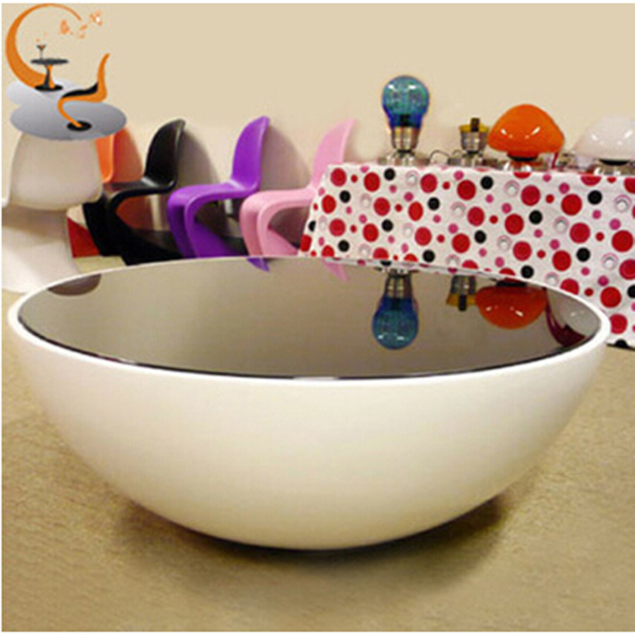 Creative Small Apartment Bowl Plastic Glass Coffee Table Storage Living Room Sofa Supporting Circular