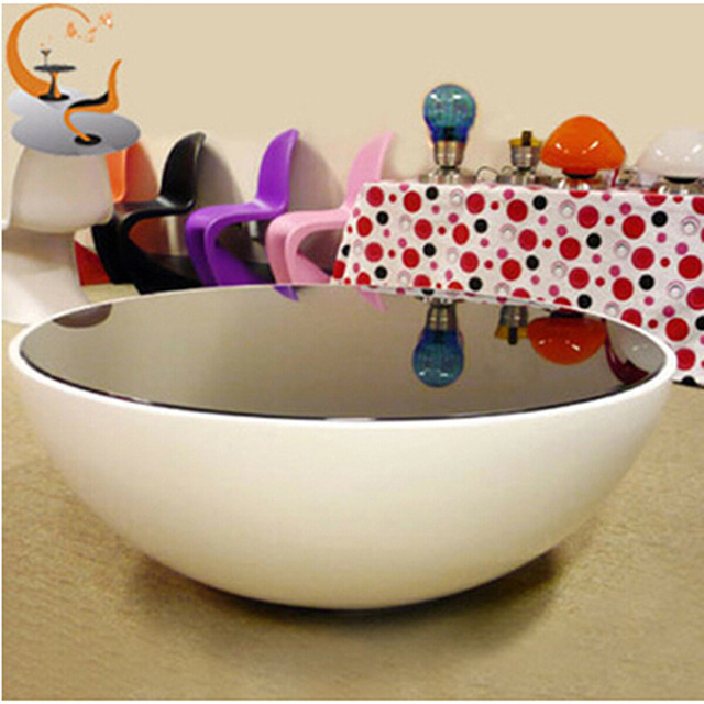 Creative Small Apartment Bowl Plastic Glass Coffee Table Storage Coffee  Table Living Room Sofa Supporting Circular
