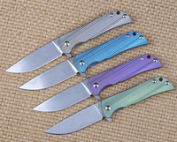 IKIV Hot Sale Folding Knife D2 Steel Blade TC4 Titanium Alloy Handle Camping Knife Outdoor Hunting