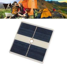 amzdeal Portable Outdoor 5V Polycrystalline Solar Panel Cell with 10 LED Camping Light Travelling Powerbank DIY Module Gift