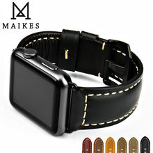 MAIKES Quality watch strap black buckle for Apple Watch band 42mm 38mm series 3/2/1 iwatch bracelet