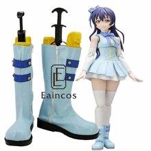 Anime Love Live! guión de inicio!! Sonoda Umi Azul Botas Zapatos de Fiesta Cosplay Por Encargo