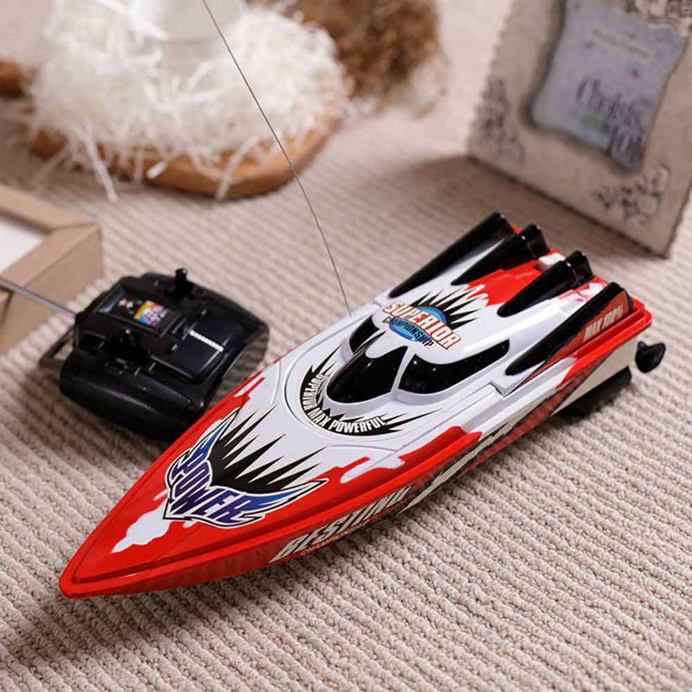 Good Red/green Radio Remote Control Twin Motor High Speed Boat Rc Racing Outdoor Control Distance 30m For Boys Birthday Gift
