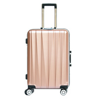2024 inch Aluminum frame luggage universal wheel trolley password lock Suitcase ABS+PC hard shell Travel Bags Man/Women Luggage