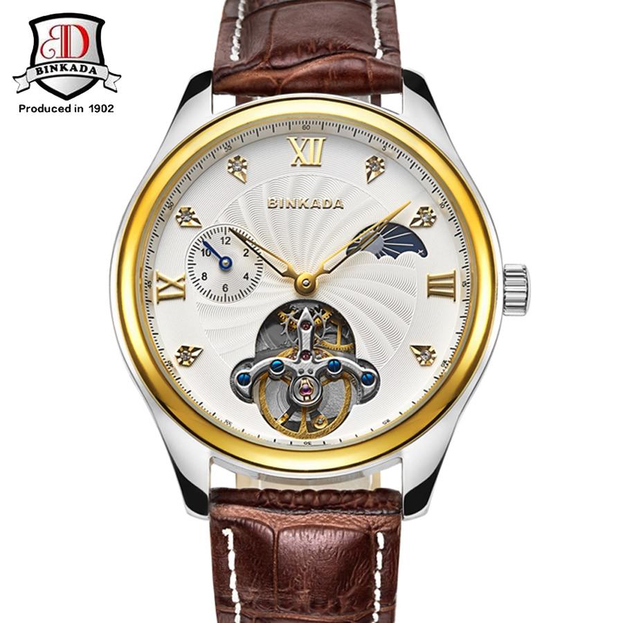 2019 relojes para hombre de primeras marcas de lujo BINKADA Moda - Relojes para hombres